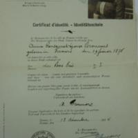 Certificat d'identité / Personal Ausweis